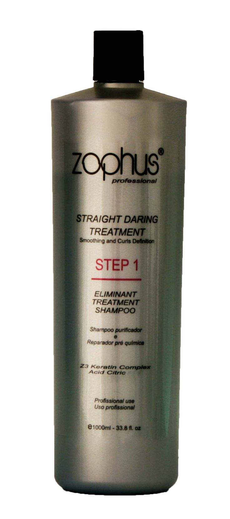Eliminant Treatment Shampoo(Profissional Use) eliminates pollutants and purifies the hair fiber structure. The addition of Z3 keratin complex reconstructs sensitized parts of the strands , along with the essential oils, maintains the water content of strands. It has still violet pigment,wich guarantees the effect of silver to keep the strands the clearest blond,gray and platinum without changing the color. It can also be used after changning shape,staining and discoloration.