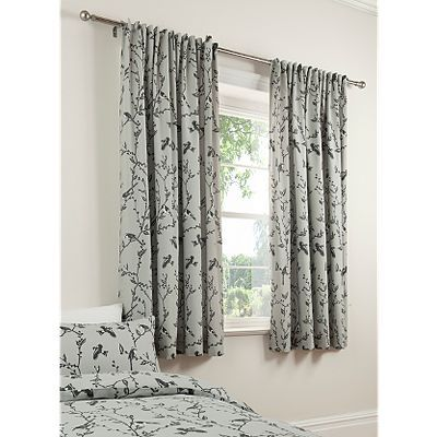 ASDA Grey Birds Curtains - 66x72 Inch  Could these work?
