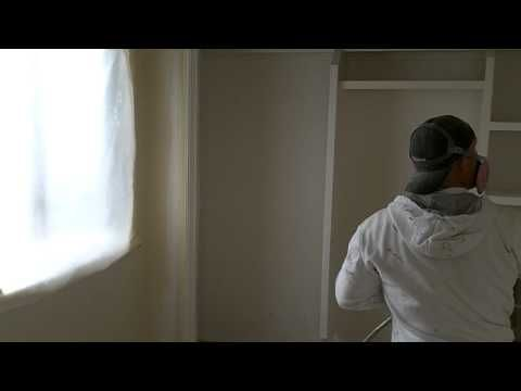 spraying interior paint sprayer walls walls second sprayer tips