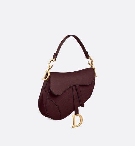 3706e908ed9f Christian Dior - Saddle burgundy calfskin bag