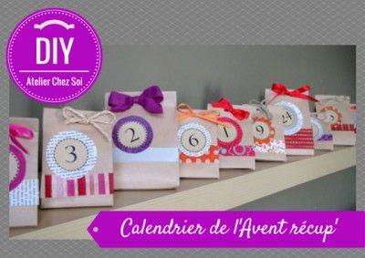 DIY Fiche créative Calendrier de l'Avent - Pochette papier - Tuto Atelier Chez Soi