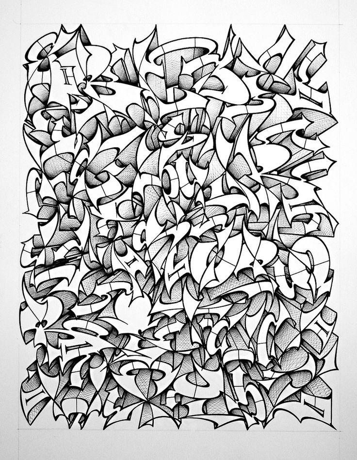 92 best ㅊ images on Pinterest Street graffiti, Street art and - best of example letter semi block style