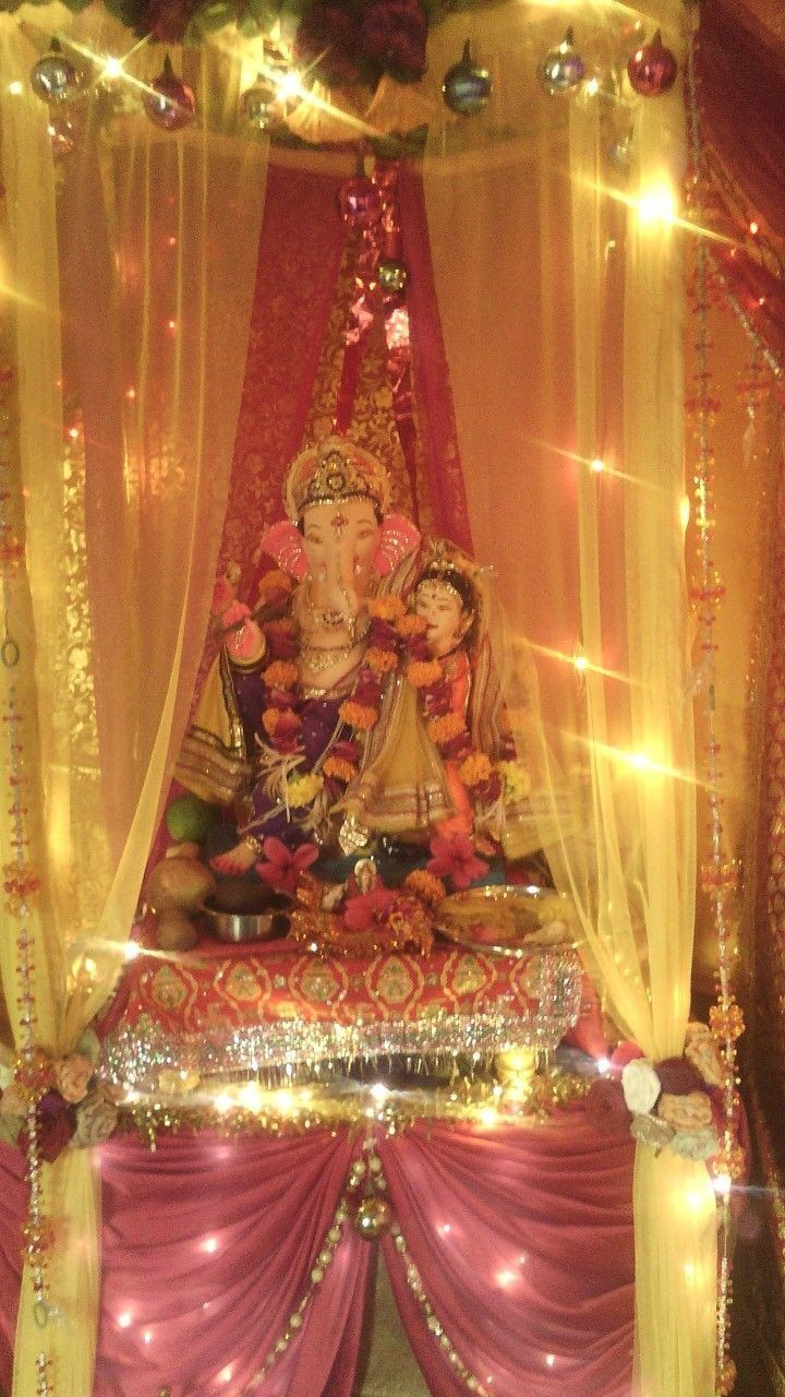 Ganpati Decoration Ideas Beautiful 29 Best Ganpati Decoration
