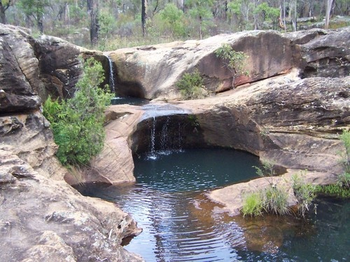 Rainbow Falls Rock Holes - Blackdown Tableland, Queensland Australia