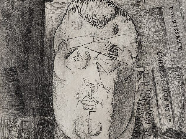 Louis Marcoussis, Guillaume Apollinaire, Radierung, 1912-20