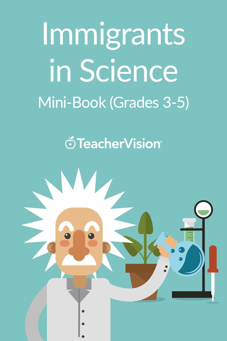 Immigrants in Science Mini-Book (Grades 3-5) | Students create their own mini-book about famous immigrants to America who contributed to the field of science. Featured scientists include Elizabeth Blackwell, Albert Einstein, John Audobon, Chien-Shiung Wu, and Alexander Graham Bell.