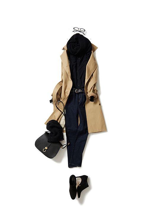 ベーシックスタイルを女っぽく 2015-11-11 | cardigan price :36,720 brand : JOHN SMEDLEY