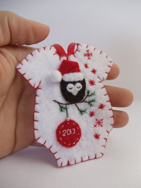 Baby's First Christmas Felt Onesie Ornament by BananaBugAndZod