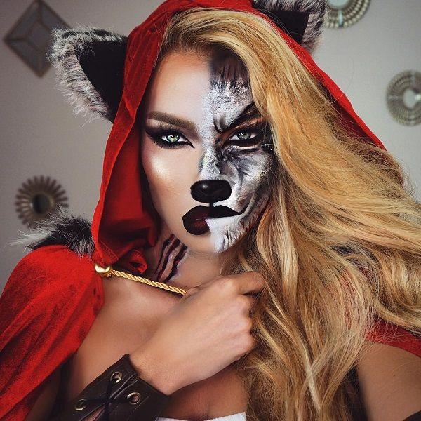Halloween werewolf makeup idea for black girls