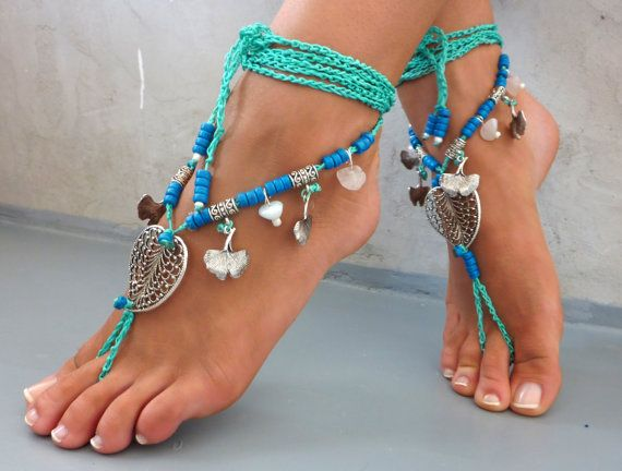 Barefoot Sandals Barefoot Beach seaside Jewelry by SoftCrystal