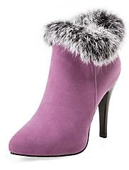 Women's+Boots+Fall+/+Winter+Platform+Fur+/+Fleece+Party+&+Evening+/+Dress+/+Casual+Stiletto+Heel+Fur+Black+/+Purple+/+Red+/+White+–+USD+$+68.38