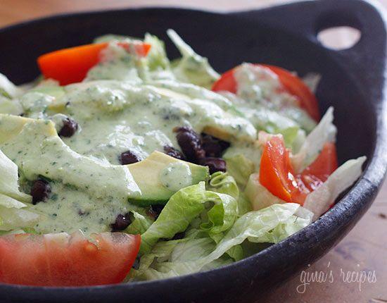 Creamy Cilantro Tomatillo Dressing - From Skinny Taste.