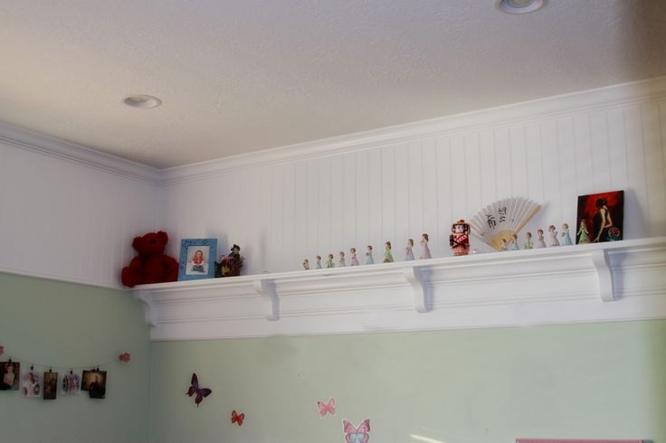 A country girl wall to wall shelf framing basement walls for Bedroom wall shelf designs