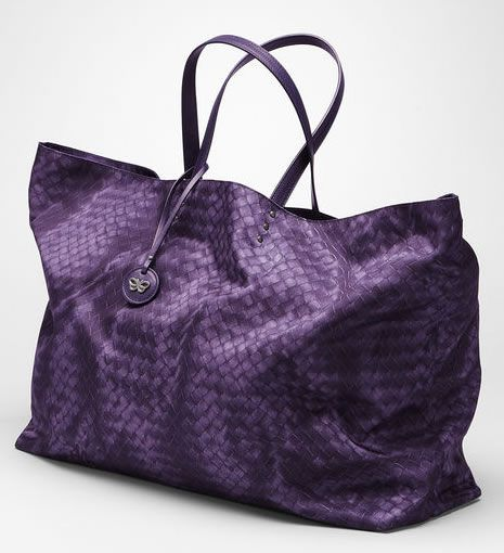 Affordable!!! --> Bottega Veneta Plum Intrecciolusion Maxi Tote