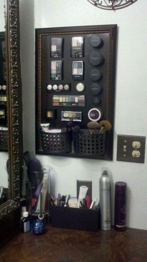 maquillage dans cadre magnétique