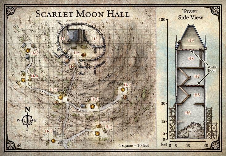 Princes of the Apocalypse; Scarlet Moon Hall (Digital DM & Player Versions)