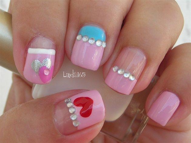 Tiny Hearts by Linda165 - Nail Art Gallery nailartgallery.nailsmag.com by Nails Magazine www.nailsmag.com #nailart