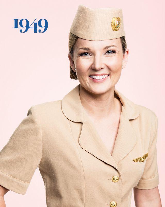 1949 - SAS flight attendant Ellinor Wickbom