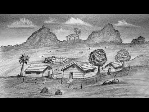 تعلم كيفية رسم منظر طبيعي في قلم الرصاص Youtube Drawings Art Painting