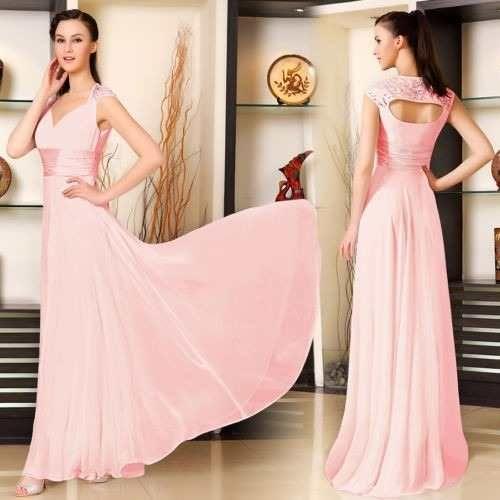 vestido para madrinha rosa claro 2