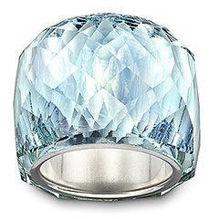 Swarovski's iconic Nirvana ring in a stunning shade of blue