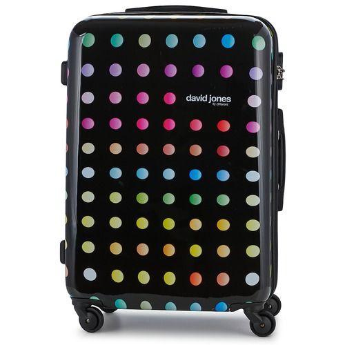 Kufferter fra David Jones er blevet deciderede modeartikler. Med denne store skalkuffert med farverige pop-motiver er du med på den seneste mode! Praktisk og let at håndtere med plads til det hele! - Farve : Sort - Tasker 489,00 Kr