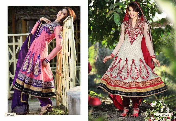 LONG ANARKALI SUITS  D.No. 1002  @4,945/-only  ORDER:PLEASE SEND US EMAIL