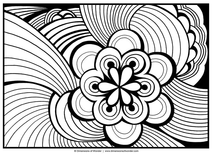 abstract coloring pages free large images - Abstract Coloring Pages Adults