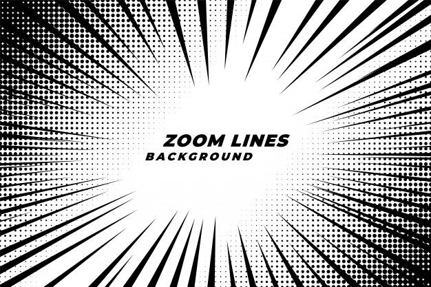 Comic Zoom Lines Motion Background With Halftone Effect Free Vector Freepik Vector Freebackground Freebo Motion Backgrounds Superhero Background Halftone