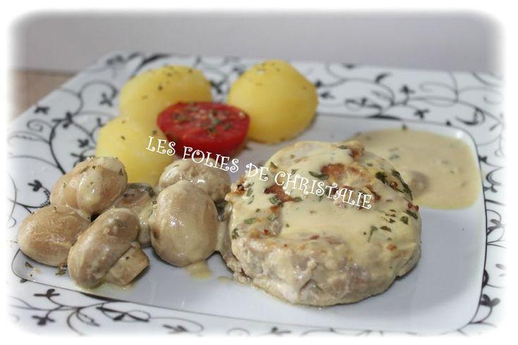 Tournedos de dinde sauce crémeuse à la moutarde