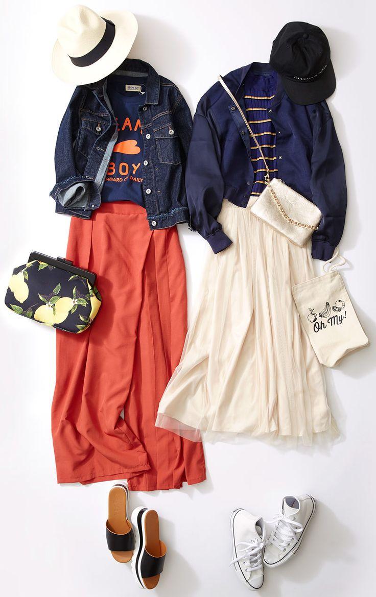 デニムジャケットやスタジャンは小物で遊ぶ! 新生活が始まるシーズンに活用度の高いネイビージャケットは、お気に入りを見つけてヘビロテさせて。この春らしいジャケット選びと着こなし方をルミネ立川のアイテムから人気スタイリスト土居悦子さんが紹介!