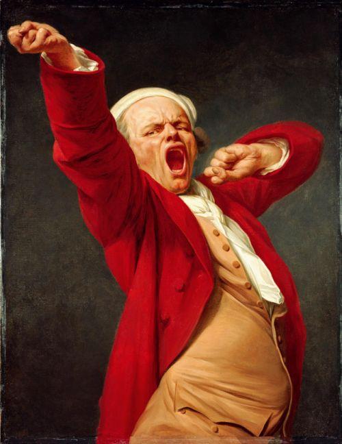 Joseph Ducreux- Self-portrait, Yawning, 1783