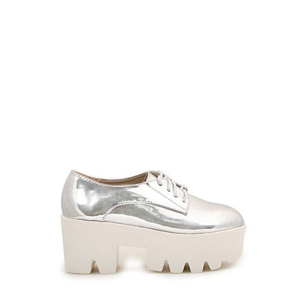 Stylish Silver and Chunky Heel Design Women's Palatform Shoes, SILVER, 39 in Platform   DressLily.com