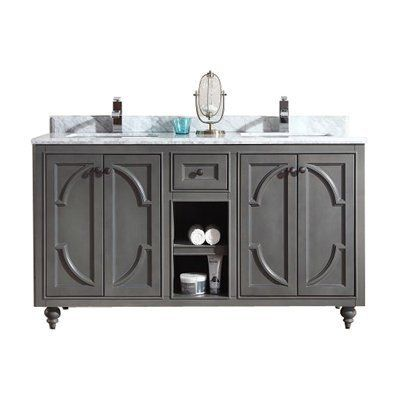 Odyssey Collection White/ /Marble 60-inch Vanity