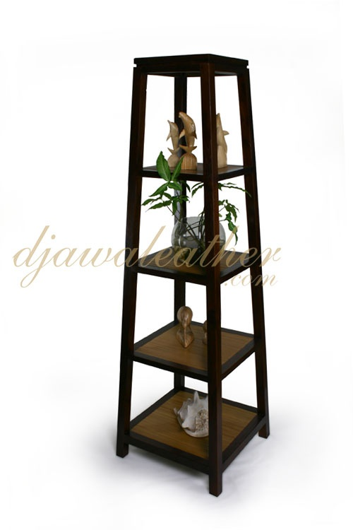 Country Contemporary #furniture - Marion Bamboo Display Rack