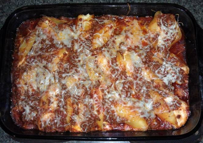 Stuffed shells Recipe -  Yummy this dish is very delicous. Let's make Stuffed shells in your home!