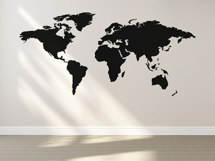 World Map/Atlas design of a laid out globe.   All our wall stickers/decals are available in a great range of sizes and colours - and can be personalised to be truly custom.