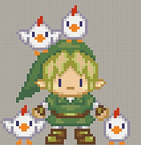 Link! And some strangely friendly chickens...