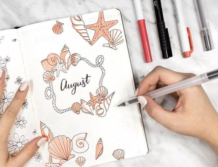 Finden Sie sofort Inspiration für die Monatsabdeckungen in Ihrem Bullet-Journal! Das ganze Bu