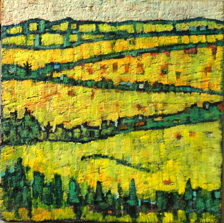 Oil painting called Rolling Hills