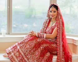 red bridal lehenga 2015