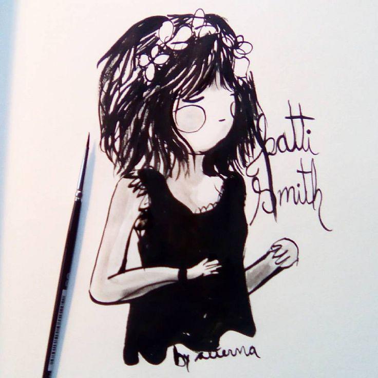 https://flic.kr/p/MHmb2N | Patti Smith. Mamá punk ❤❤❤❤❤💜❤❤✨ #alterna #pattismith #inktoberday13 #inktober #ink #illustration #feminism #feminismo #tintachina #ink  #power #femmepower #femme #femenino #mujer #woman #art