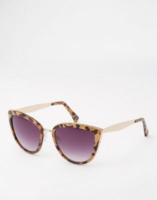 ASOS Cat Eye Sunglasses With Metal Inlay And Metal Arms
