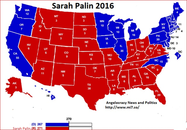 The Real Reason Sarah Palin Is Not Running for President In 2012: Presidential Election, Politics, Colleges, Maps, Electoralcollege, Romney, U.S. States, Obama