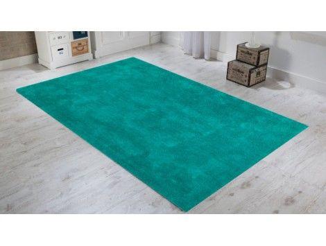 ce tapis uni couleur vert et au velours trs doux pour salon est fabrique main - Tapis Color Pas Cher