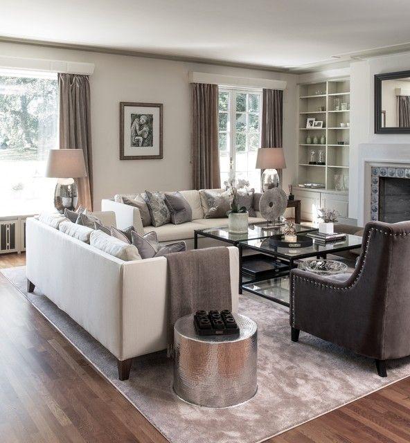 Gray Scheme Transitional Decor Living Room Beautiful Living Rooms Decor Living Room Grey