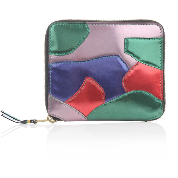 Comme Des Garcons WALLET Patchwork Metal Medium Zip-Around Purse... (20.370 RUB) ❤ liked on Polyvore featuring bags, wallets, pouch bags, comme des garcons wallet, comme des garcons bag, snap bag and comme des garçons