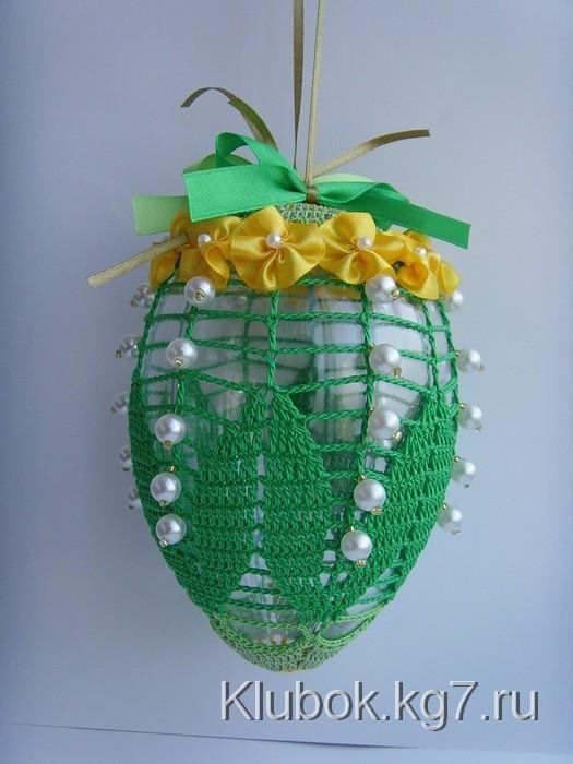 Вязаные Пасхальные яйца для декора со схемами и идеи из Сети