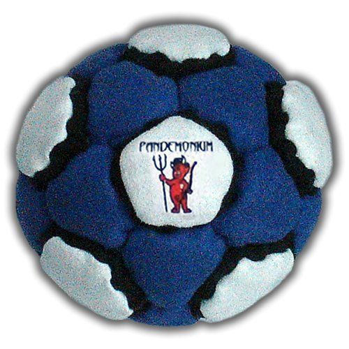 Morphling Footbag 44 Panels Rare Hacky Sack Bag Rare Sand & Iron Weighted At 2.1 Onces. Filling: Sand & Iron Weight: 60 Grams /2.1 ounces. Panels: 44 Material: Ultra Suede. Fill level: Loose. Red & Black & White color. Very hard to find Footbag! Width: 197, height: 197 hundredths-inches. Manufacturer Minimun Age: 72 months. Impress your friends with the coolest design footbag !!! Diameter: 5.5 cm / 2¼ inches.
