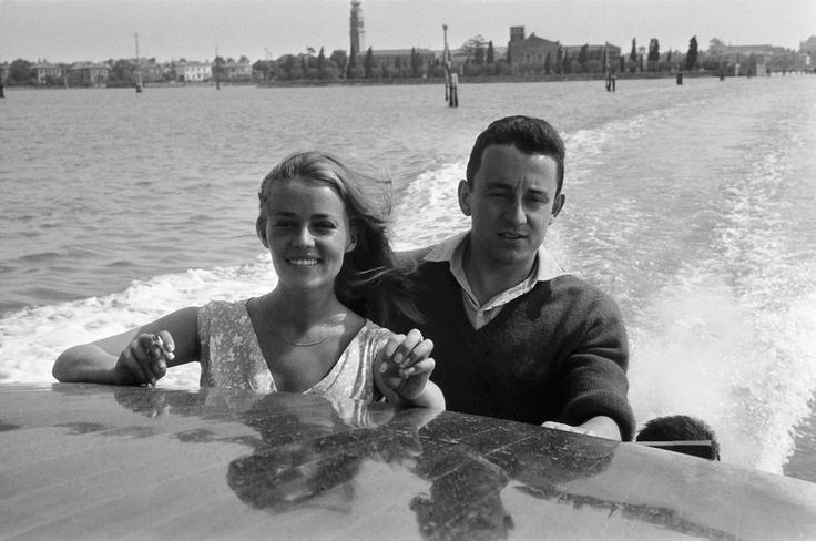 Jeanne Moreau & Louis Malle at the Venice Film Festival, 1958.